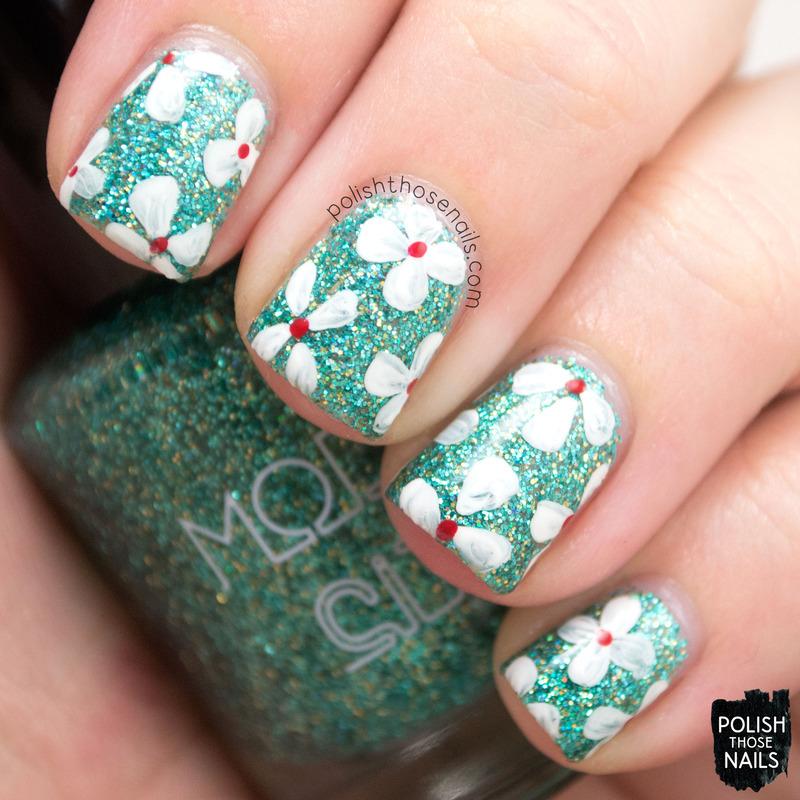 Floral Aura nail art by Marisa  Cavanaugh