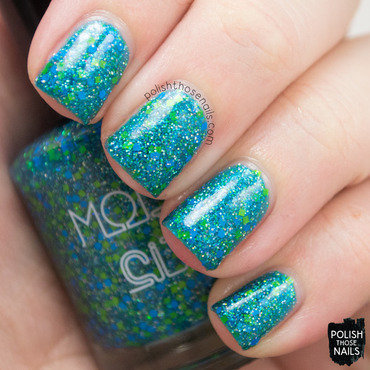 Model city polish cool waters teal green glitter swatch 3 thumb370f