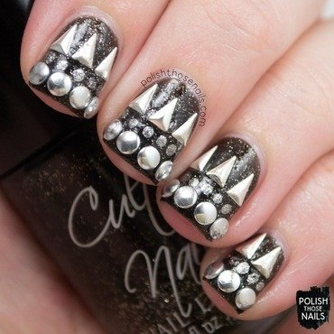 Stud Muffin nail art by Marisa  Cavanaugh