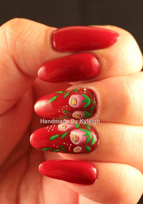 One Stroke Floral nail art by  Kyleigh  'Handmade By Kyleigh'
