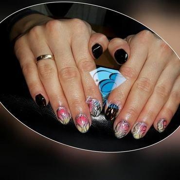 Ombre nail art by Ewa EvaNails