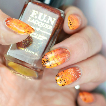 Gradient on gradient nail art by Meltin'polish