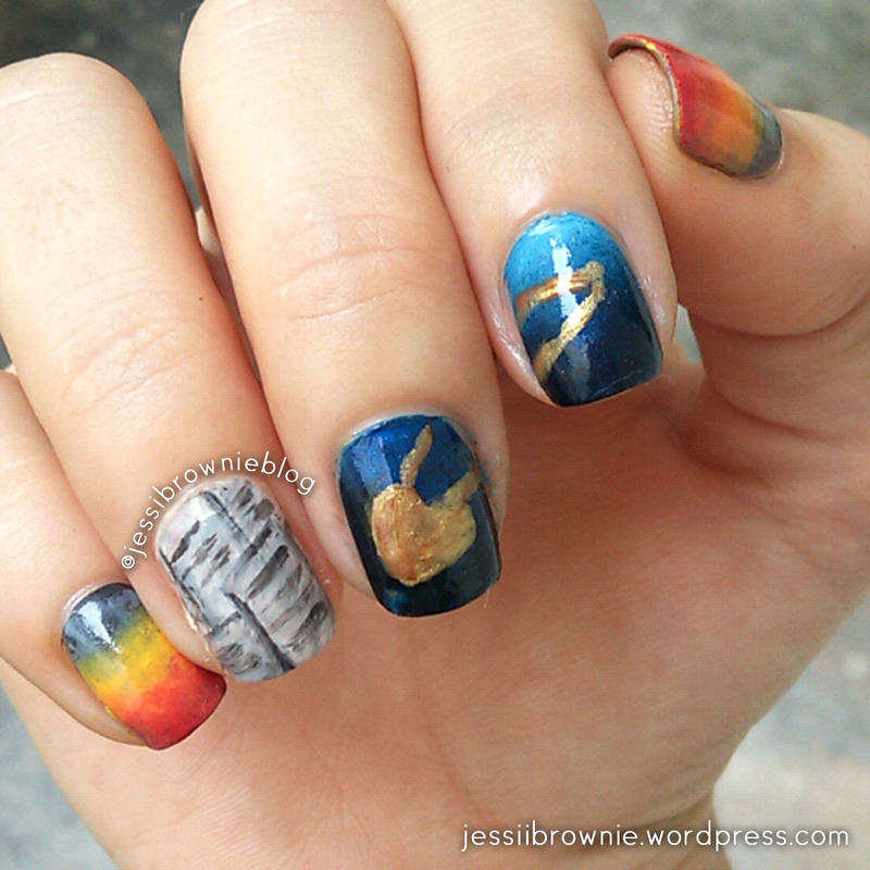 The Polished Bookworms nail art by Jessi Brownie (Jessi)