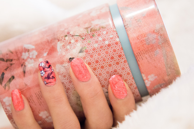 Pink blossom Nails nail art by Minhie