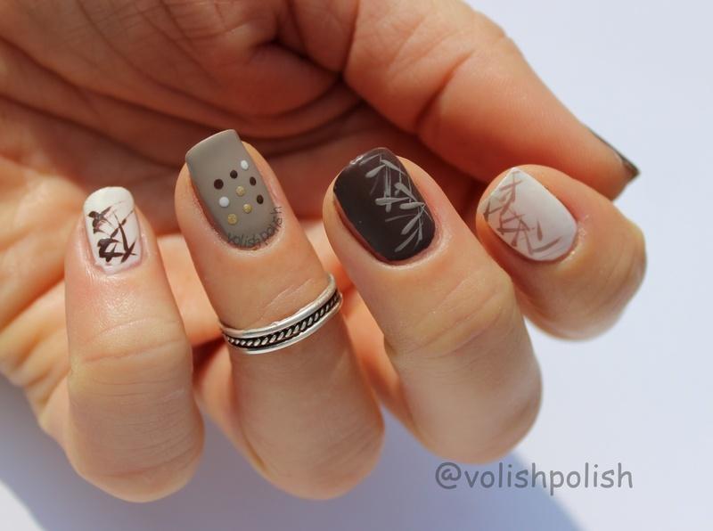 Chocolate nail art nail art by Volish Polish