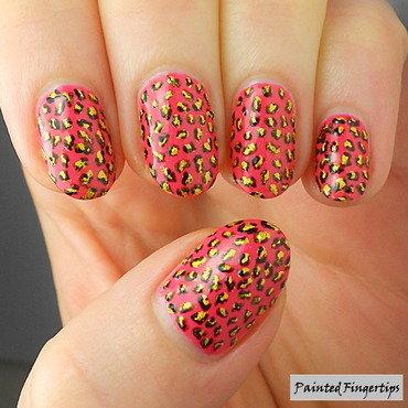 Leopard print nail art thumb370f
