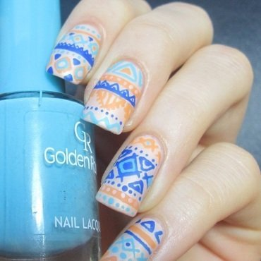 matte tribal  nail art by NailArt_T