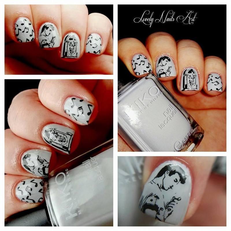 Nail art stamping *jukebox* nail art by Lovely Nail's  Art