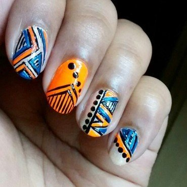 Tribal..!!! nail art by Sohini  Sengupta