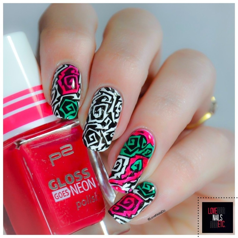 Stained Glass - #StampingMaster nail art by Love Nails Etc