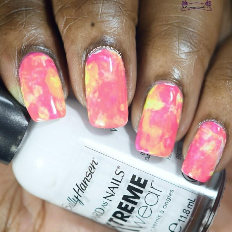 Saran Wrap nail art by glamorousnails23