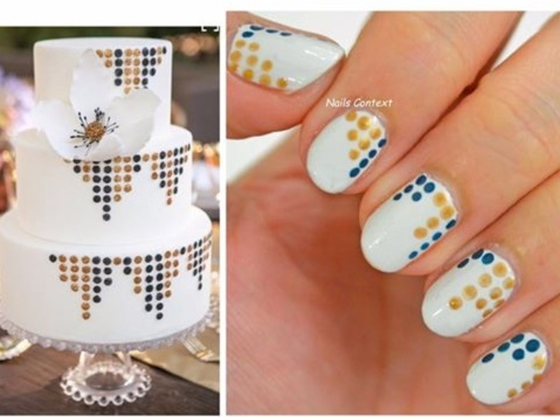 Cake Inspired nail art by NailsContext