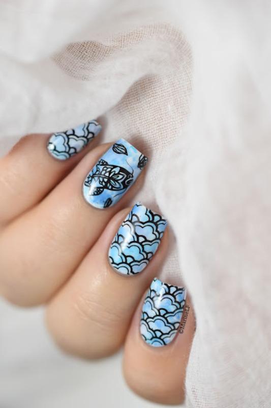Pisces nail art by Marine Loves Polish