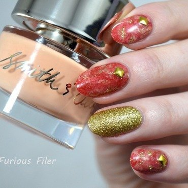 Glam Marble nail art by Furious Filer