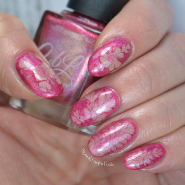 Drymarble Experiment nail art by Meltin'polish