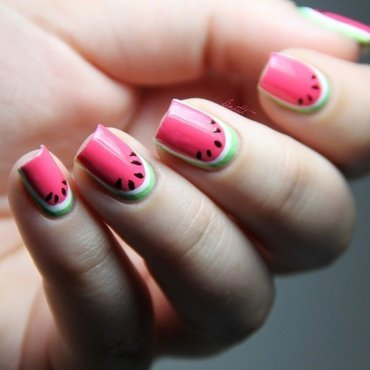 watermelons  nail art by Linitti