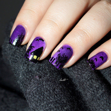 halloween nail art by Linitti