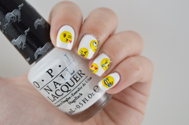 Emojis nail art by Julia