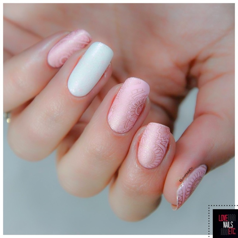 Sweet - Pink & Gold nail art by Love Nails Etc