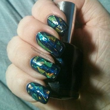 Shattered Glass nail art by Lynni V.