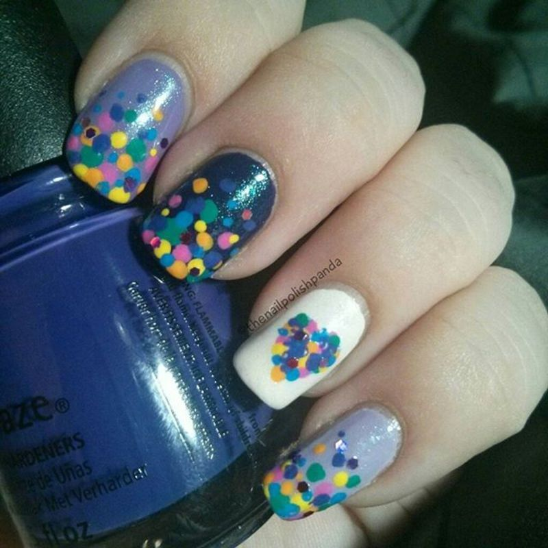 Candy Hearts nail art by Lynni V.