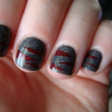 Winter Bordeaux nail art by Stephanie