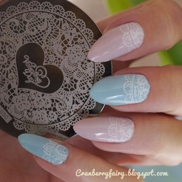 Lace nails nail art by Cranberry Fairy