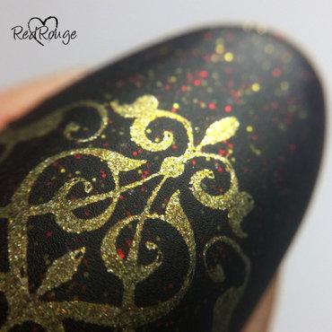 Oriental manicure macro nail art by RedRouge