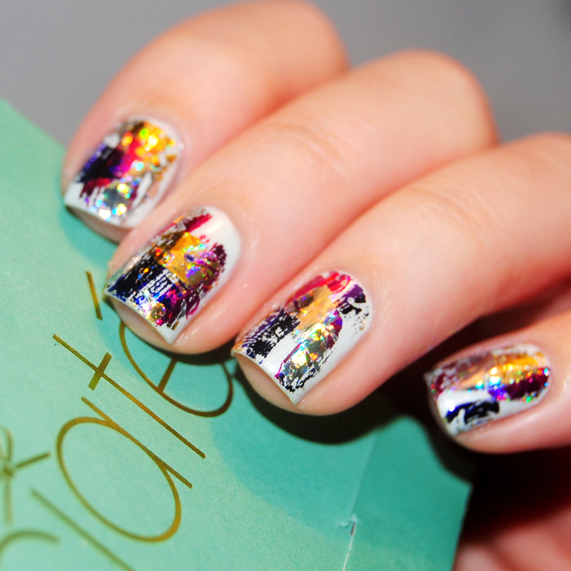 Very Colourfoil Manicure nail art by Lackopfer
