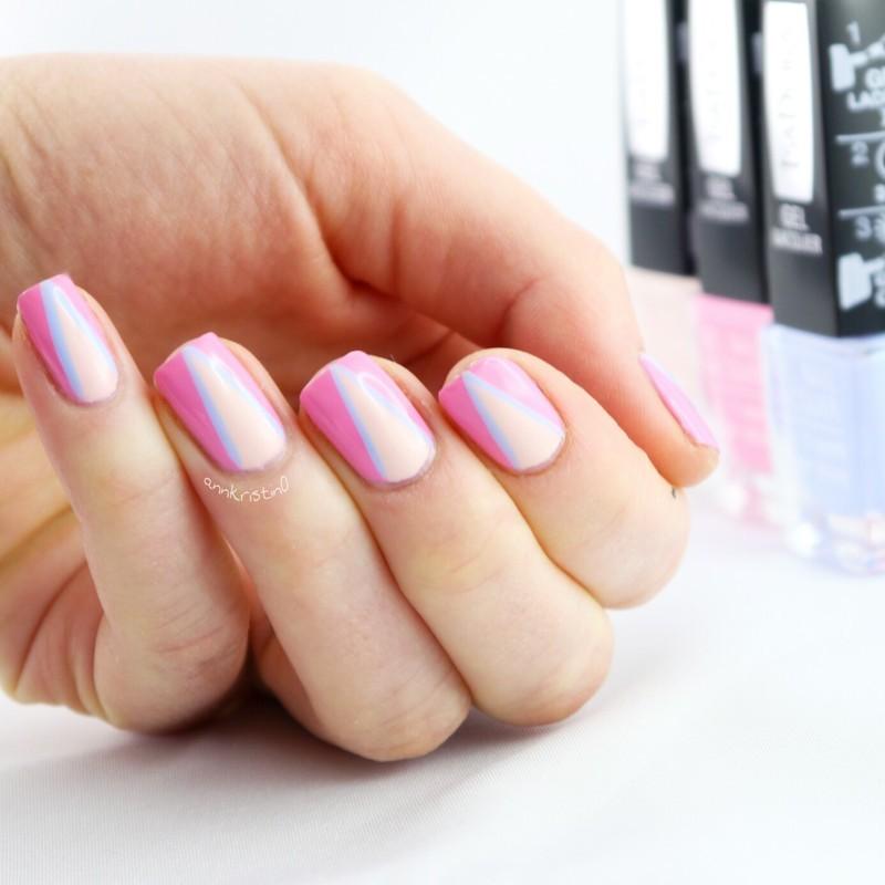 Geometrical Nails IsaDora Spring Gel nail art by Ann-Kristin