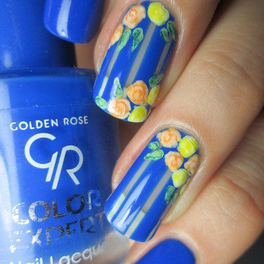 Spring floral nail art by NailArt_T