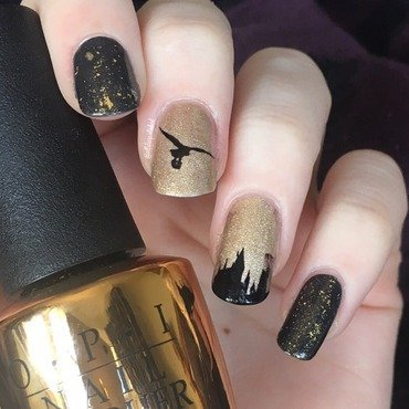 Hogwarts nail art by allwaspolished
