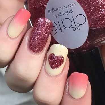 Valentine's  nail art by allwaspolished