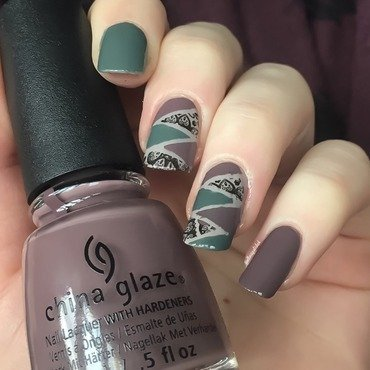Fishtail nail art by allwaspolished