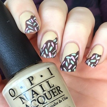 Doughnuts  nail art by allwaspolished