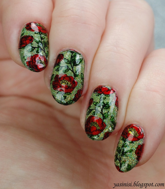 Enchanted Garden nail art by Yasinisi