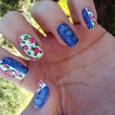 Hello spring, hello allergies nail art by Wiam T.