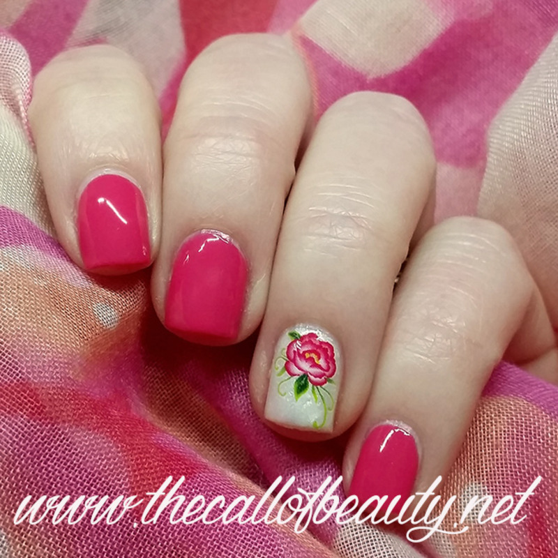 Floral Accent nail art by The Call of Beauty