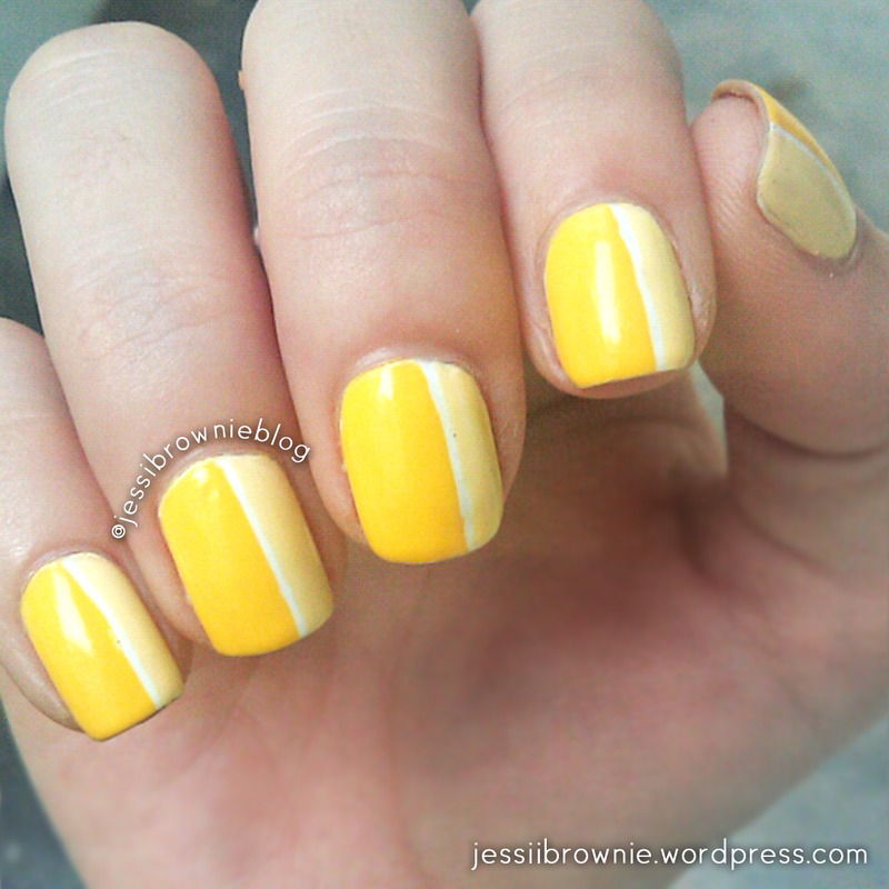 Color me Yellow nail art by Jessi Brownie (Jessi)
