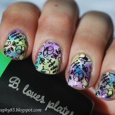Flower nail art nail art by Hana K.