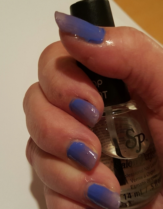 Sally Girl Unnamed and Salon Perfect Top Coat Swatch nail art by Sheplayswithpolish