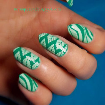 Leafy tropics nail art by notcopyacat