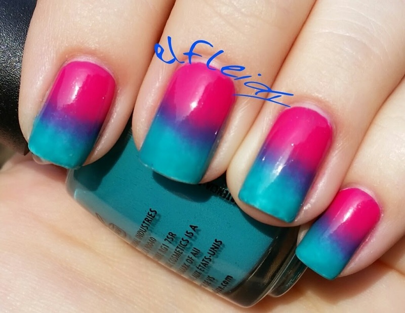 Jelly gradient nail art by Jenette Maitland-Tomblin