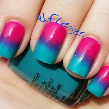 Jelly gradient nail art by Jenette Maitland-Tomblin