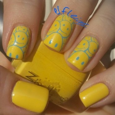 Happy! nail art by Jenette Maitland-Tomblin