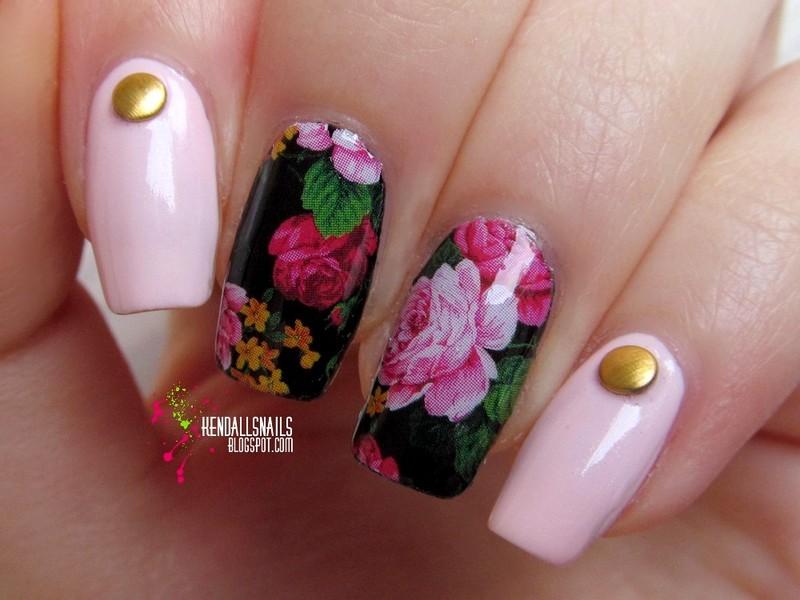 Roses nail art by Julia Friedel