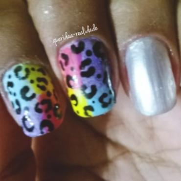 Print colorful nails nail art by Isabella