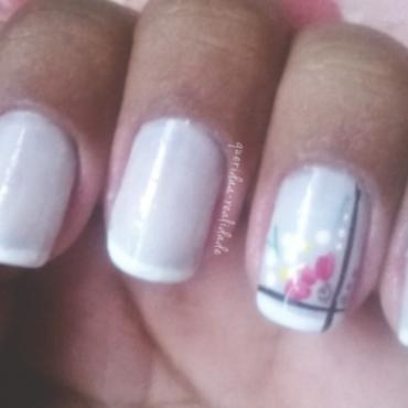 Flowery nails nail art by Isabella