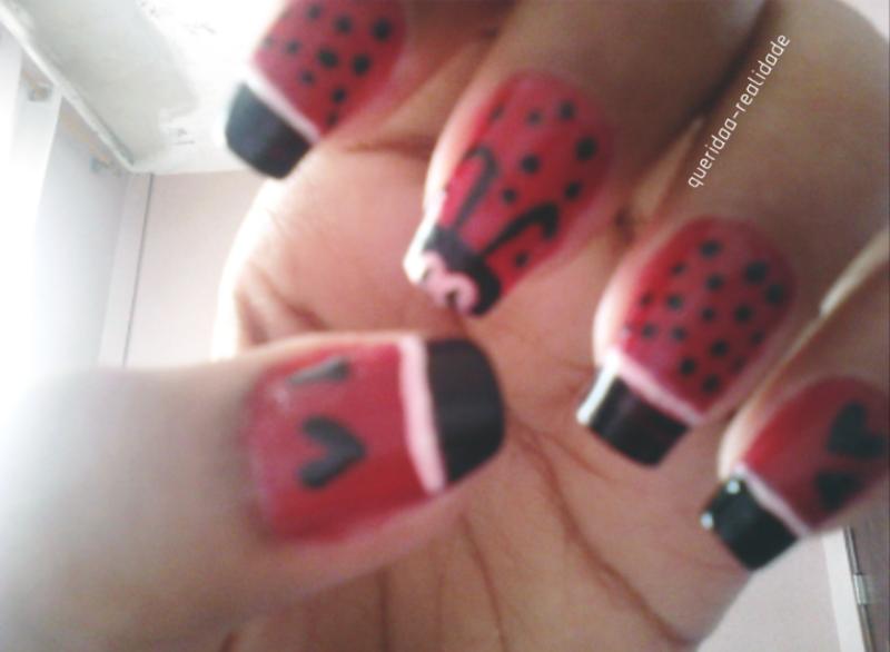 Ladybug 🐞 nail  nail art by Isabella