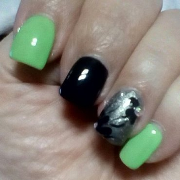 Lucky Lime Time nail art by upgirlcd